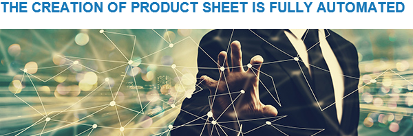 Creation of product sheet
