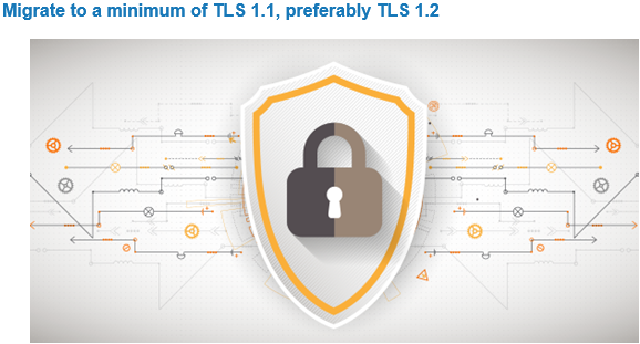 Migrate to a minimum of TLS 1.1, preferably TLS 1.2