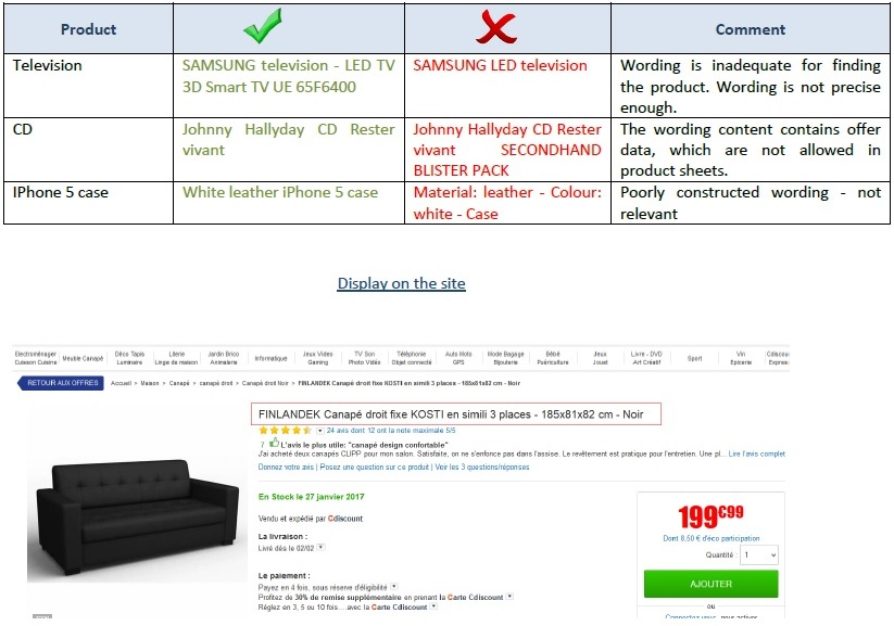 Product Cdiscount Marketplace - Excel spreadsheet invoice template square enix online store